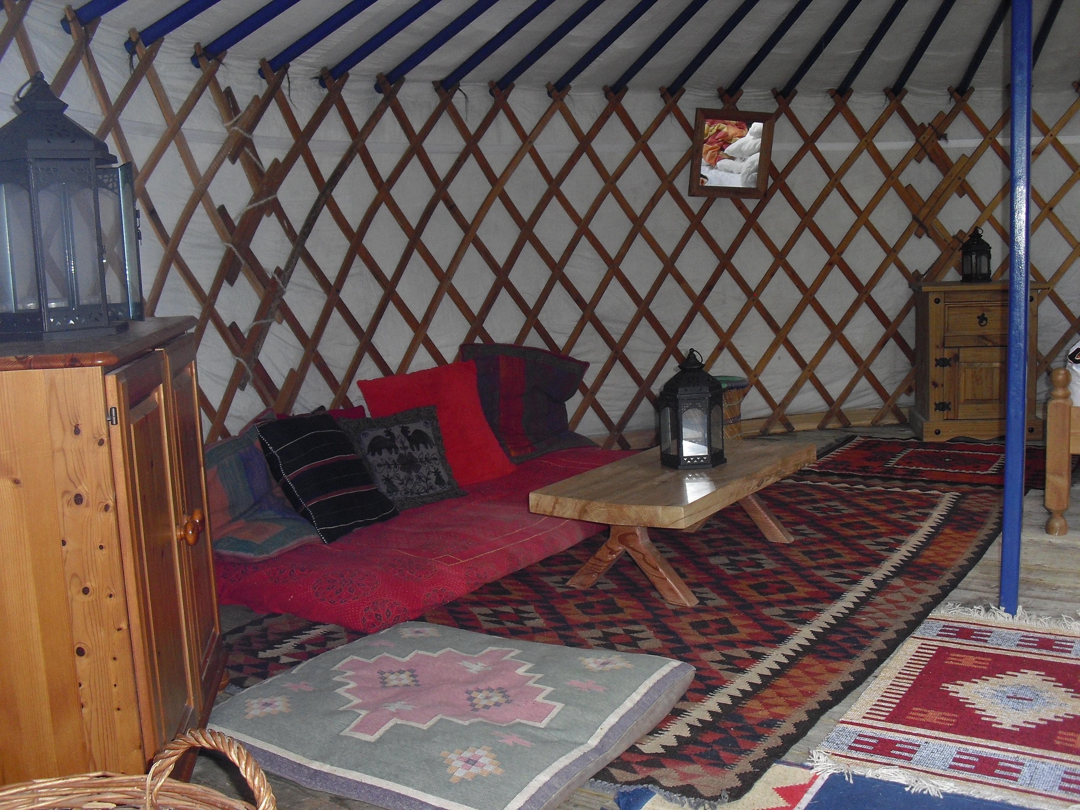 Inside Sunshine Yurt